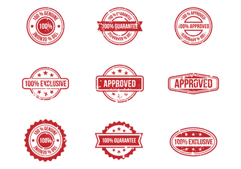 Free Stamp Stempel Badges Vectors - бесплатный vector #393693