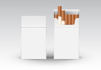Free Realistic Cigarette Packaging Vector - Free vector #393703