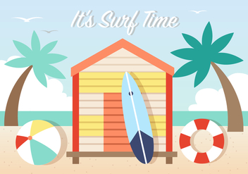 Surfing Vector Background - бесплатный vector #393733