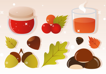 Free Vector Cider and Autumn Elements - Kostenloses vector #393763