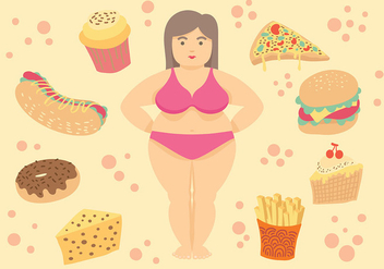 Free Fat Women Icons Vector - vector gratuit #393773