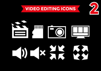 Video Editing Icons Vector #2 - Kostenloses vector #393793