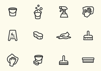 Simple Vector Stroke Cleaning Icons - бесплатный vector #393803
