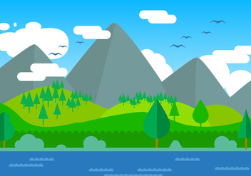 Free Landscape Vector Illustration - Kostenloses vector #393823