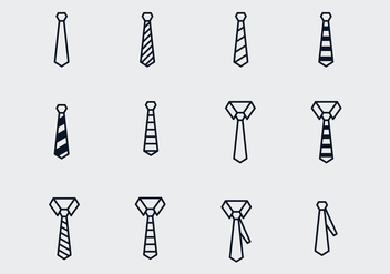 Vector Bow Ties And Ties - vector gratuit #393833