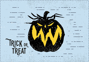 Trick or Treat Jack-o-lantern Illustration - Free vector #393843