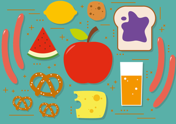 Snacks Vector Illustration - бесплатный vector #393853