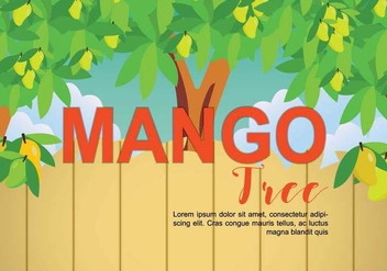 Free Mango Tree Illustration - бесплатный vector #393933