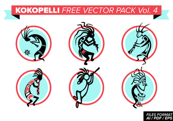 Kokopelli Free Vector Pack Vol. 4 - vector gratuit #393943