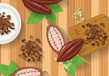 Free Cocoa Beans Illustration - бесплатный vector #393983