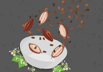 Free Cocoa Beans Illustration - бесплатный vector #393993
