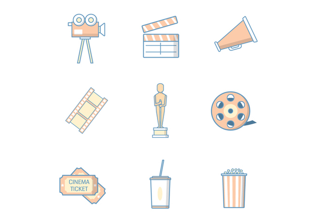 Free Movie & Cinema Vector - бесплатный vector #394053