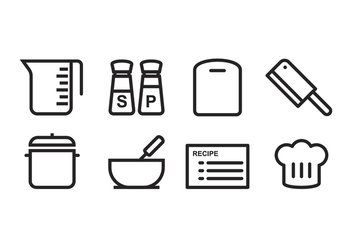 Free Cooking Icon Set - Kostenloses vector #394073