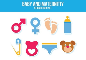 Free Baby and Maternity Icon Set - vector #394093 gratis