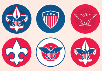 Eagle Scout Vector Badges - бесплатный vector #394113