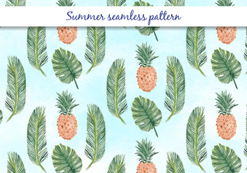 Vector Summer Seamless Pattern - Kostenloses vector #394143