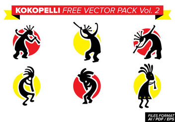 Kokopelli Free Vector Pack Vol. 2 - Free vector #394163