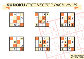 Sudoku Free Vector Pack Vol. 18 - бесплатный vector #394273