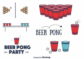 Free Beer Pong Vector - Free vector #394343