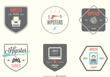 Free Hipster Vector Labels - бесплатный vector #394353