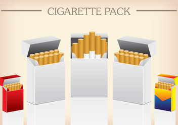 Vector Template Pack Package Box of Cigarettes - vector gratuit #394413