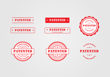 Patent Stamp Template - бесплатный vector #394473