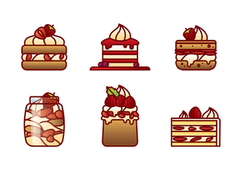 Strawberry Shortcake Flat Vector - бесплатный vector #394553