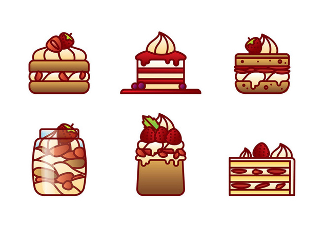 Strawberry Shortcake Flat Vector - vector gratuit #394553
