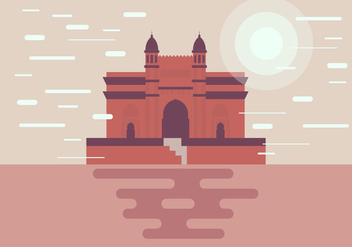 Mumbai Monument Illustration Vector - Free vector #394593