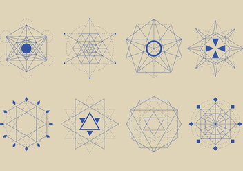 Sacred Geometry Forms Set - vector gratuit #394923