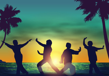 Afternoon Tai Chi Practice - Free vector #394953