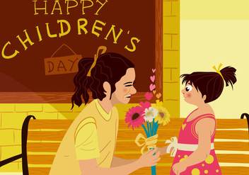 Mom Appreciate Childrens Day - бесплатный vector #395013