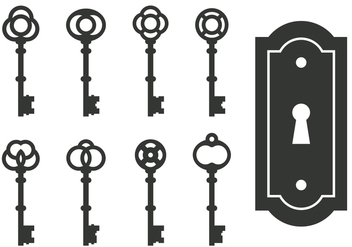 Classic Skeleton Key Vectors - бесплатный vector #395043