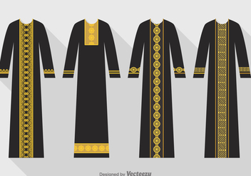 Free Vector Black Abaya Set - бесплатный vector #395103