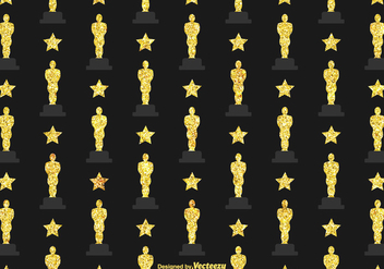 Free Oscar Statuette Vector Background - Kostenloses vector #395123
