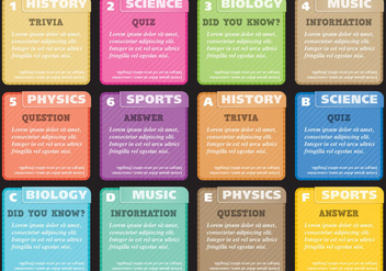 Trivia And Quiz Cards - Free vector #395163