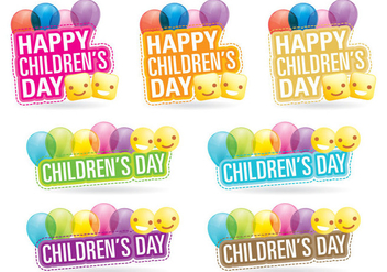 Childrens Day Titles - vector gratuit #395193