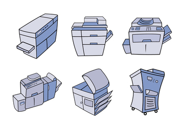 Photocopier cartoon vector illustration - vector gratuit #395213