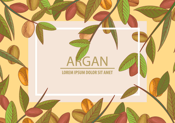 Argan Seamless And Background Template Concept - Kostenloses vector #395243