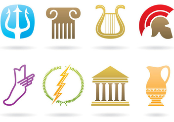 Greek Logos - vector gratuit #395283