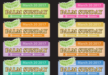 Palm Sunday Banners - vector gratuit #395303