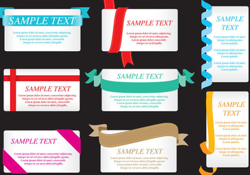 Ribbon Cards - vector gratuit #395403