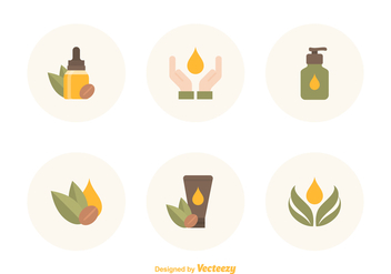 Free Argan Oil Vector Icons - Free vector #395413