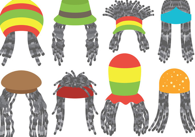 Free Dreads Icons Vector - vector gratuit #395443