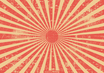 Red Grunge Style Sunburst Background - vector #395593 gratis