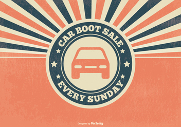 Retro Car Boot Sale Illustration - Free vector #395603