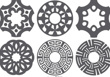 Laser Cut Vector Shapes Set - Kostenloses vector #395653