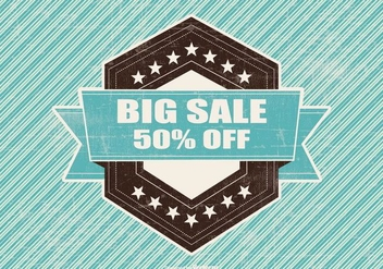 Retro Big Sale Illustration - vector gratuit #395673
