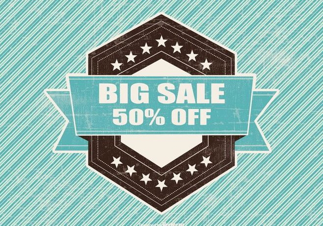 Retro Big Sale Illustration - бесплатный vector #395673