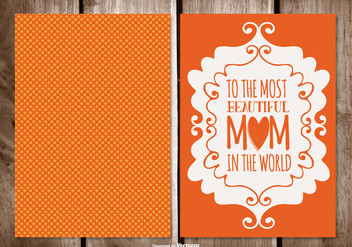 Cute Polka Dot Mother's Day Card - vector gratuit #395693